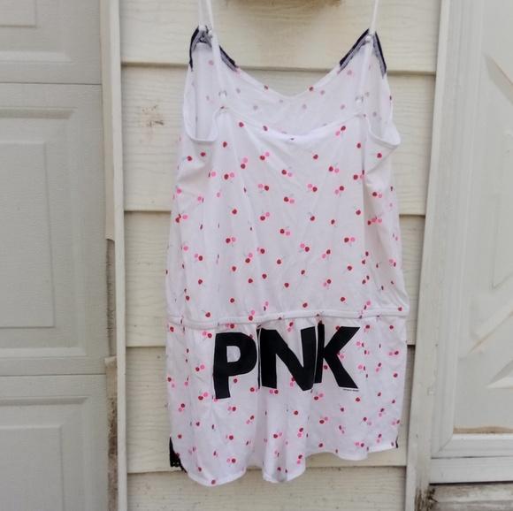 715cbf4357f3 VS PINK romper one piece pj so cute! M 5ae9f0b25512fd1ebdc3ea5f